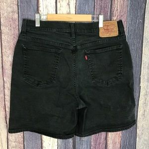Vintage High-Waisted Mom Jean Shorts 90s Stretch
